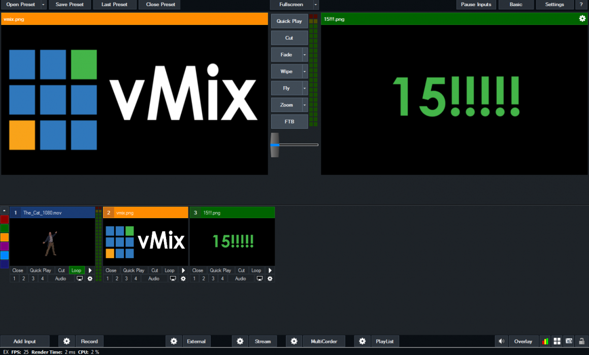 vMix 15 screenshot