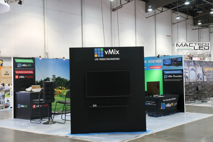 vMix NAB Show 2015 setting up