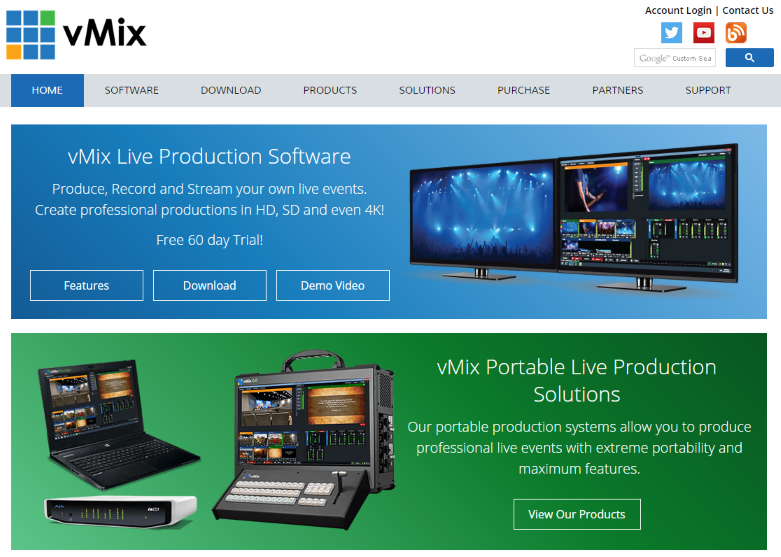 New vMix Website