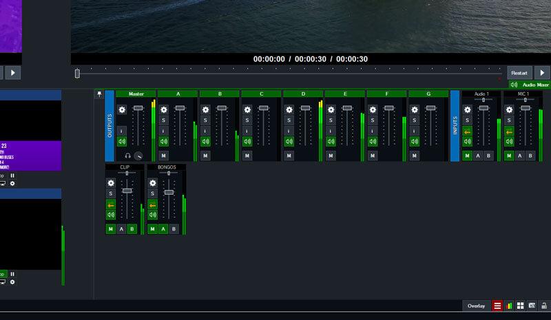 vMix 23 audio buses