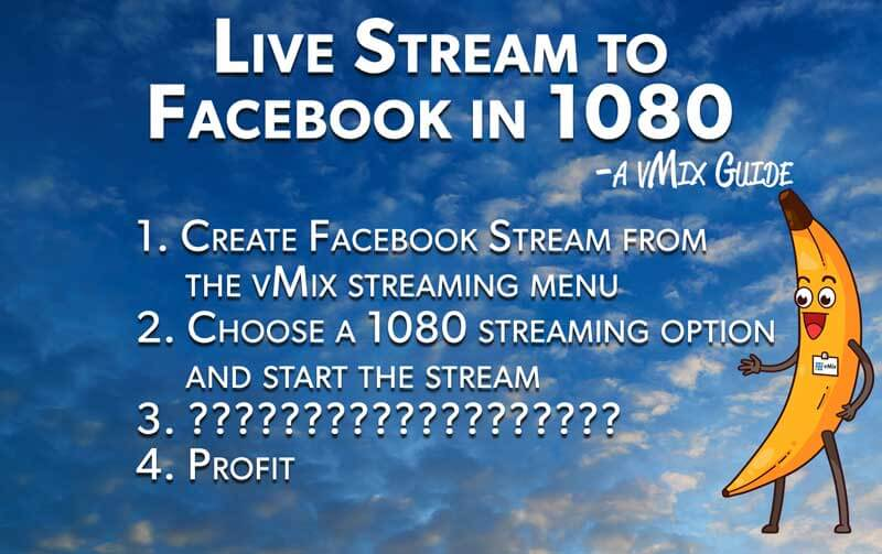 How to stream to facebook in 1080